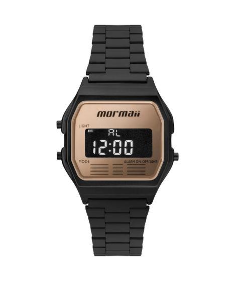 4834010b368 Relógio Mormaii Unissex Maui Vintage Preto - MOJH02AO 4J - cea