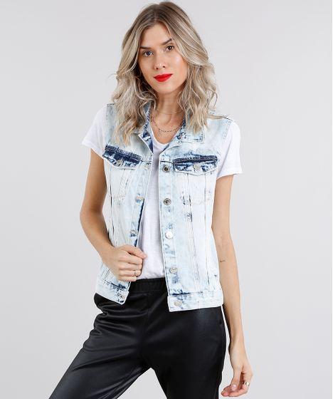 Colete-Jeans-Feminino-Destroyed-Azul-Claro-9148051-Azul Claro 1 ... 0ccd9335c0951