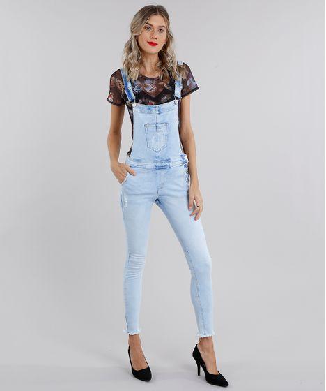277654f41 Macacao-Jeans-Feminino-Skinny-Azul-Claro-9140187-Azul Claro 1 ...