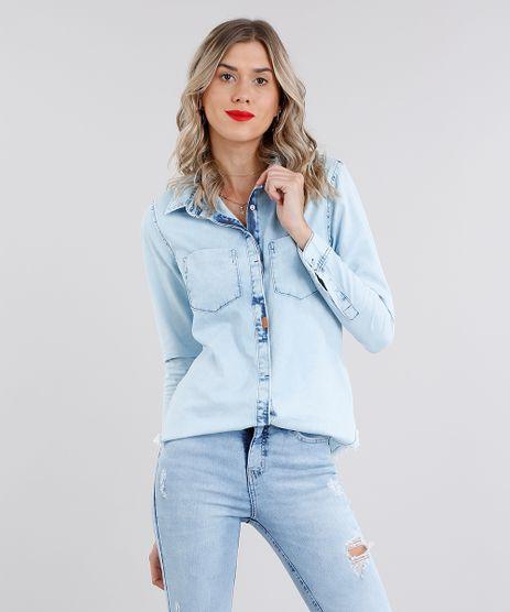 Camisa-Jeans-Feminina-Manga-Longa-Azul-Claro-9099841-Azul_Claro_1