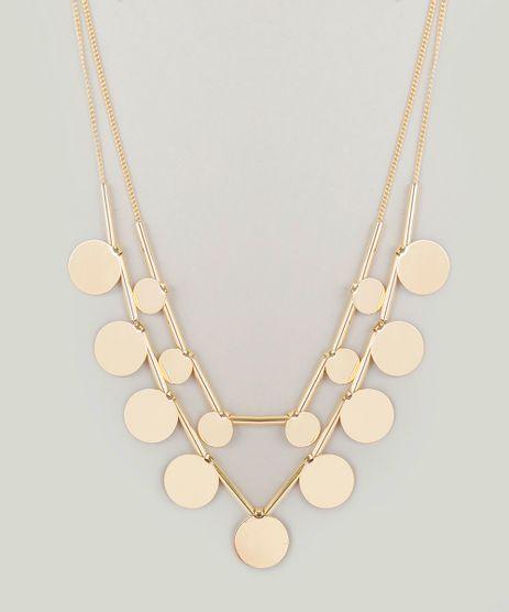 Colar-Duplo-Feminino-com-Pingentes-Dourado-8838901-Dourado_1