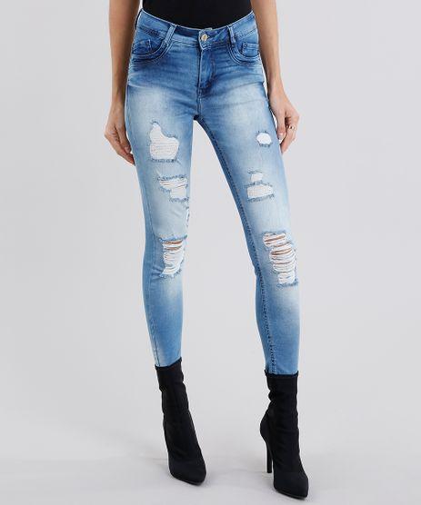 Calca-Jeans-Feminina-Sawary-Super-Skinny-Destroyed-Push-Up--Azul-Claro-9135601-Azul_Claro_1
