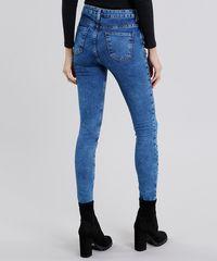 8ac064370 Calça Jeans Feminina Super Skinny com Strass Azul Médio - ceacollections
