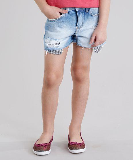 Short-Jeans-Infantil-com-Bolso-Xadrez-Destroyed-em-Algodao---Sustentavel-Azul-Claro-9138432-Azul_Claro_1