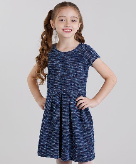 Vestido-Infantil-Texturizado-Curto-Manga-Curta-Azul-Marinho-8821819-Azul_Marinho_1