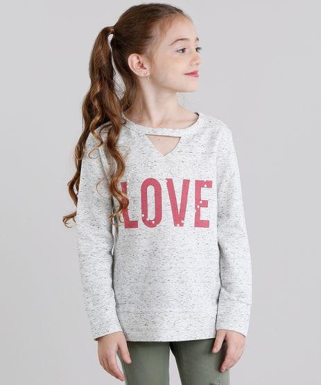 Blusao-Infantil-Choker--Love--Decote-Redondo-Manga-Longa-Cinza-Mescla-Claro-9043455-Cinza_Mescla_Claro_1