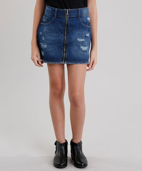Saia-Jeans-Infantil-Destroyed-Azul-Medio-9068671-Azul_Medio_1