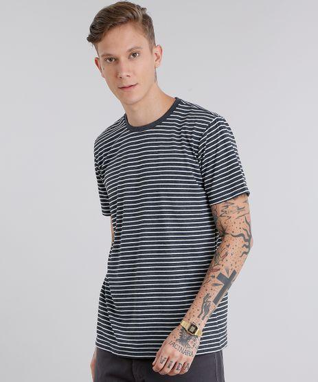 Camiseta-Masculina-Basica-Listrada-Manga-Curta-Gola-Careca-Cinza-Mescla-Escuro-8551673-Cinza_Mescla_Escuro_1