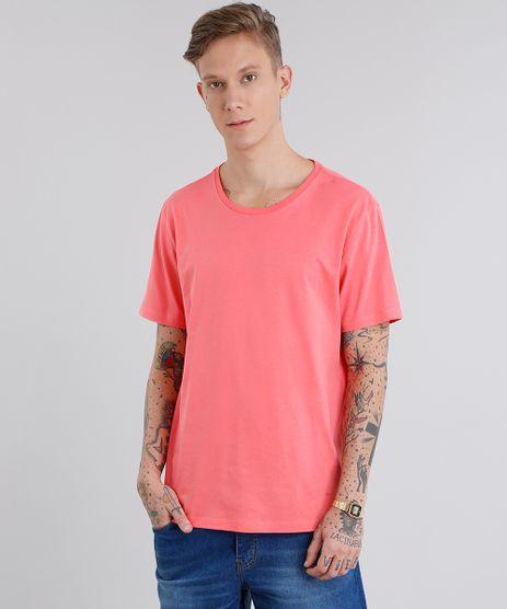 Camiseta-Masculina-Basica-Manga-Curta-Gola-Careca-Coral-8639008-Coral_1