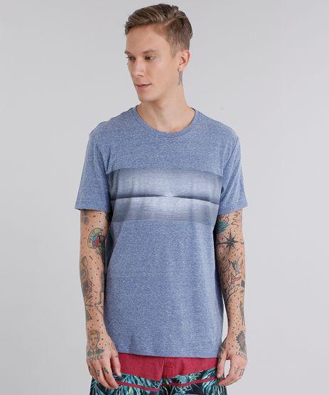 Camiseta-Masculina-com-Estampa-de-Paisagem-Manga-Curta-Gola-Careca-Azul-8959194-Azul_1