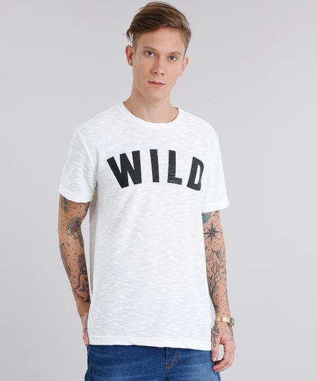 Camiseta-Masculina--Wild--Texturizada-Manga-Curta-Gola-Careca-Off-White-9116976-Off_White_1