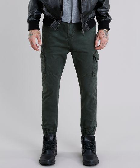 Calca-Masculina-Jogger-Cargo-em-Algodao---Sustentavel-Verde-Militar-9107982-Verde_Militar_1