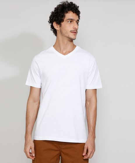 Camiseta-Masculina-Gola-V-Manga-Curta-Basica-Branca-9984367-Branco_1