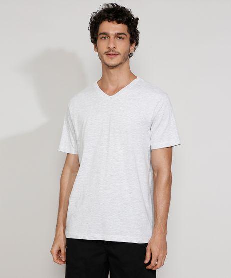 Camiseta-Masculina-Gola-V-Manga-Curta-Basica-Cinza-Mescla-Claro-9984367-Cinza_Mescla_Claro_1