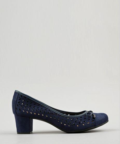 Scarpin-Feminino-Salto-Baixo-Beira-Rio-em-Suede-com-Laser-Cut-e-Laco-Azul-Marinho-9175355-Azul_Marinho_1