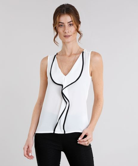 Regata-Feminina-com-Babado-e-Vivo-Contrastante-Decote-V-Off-White-8954032-Off_White_1