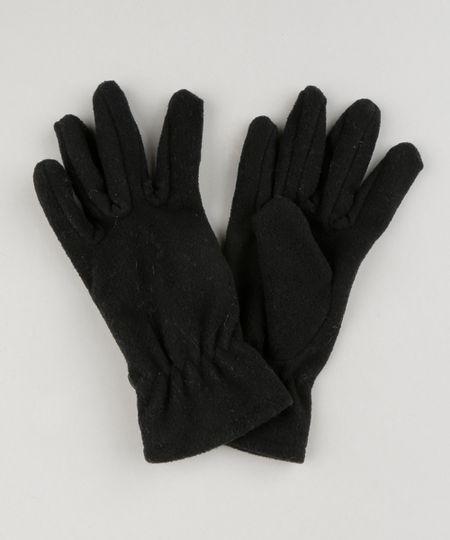 Luva Infantil de Inverno em Fleece Preta - cea 8d4621f0a17