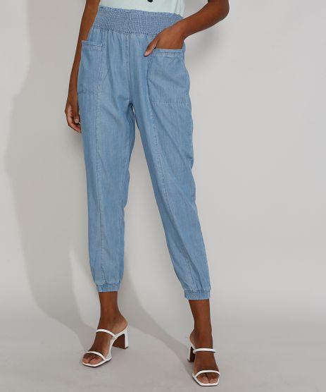 Calca-Jeans-Feminina-Cintura-Alta-Jogger-Clochard-Azul-Claro-9981728-Azul_Claro_1