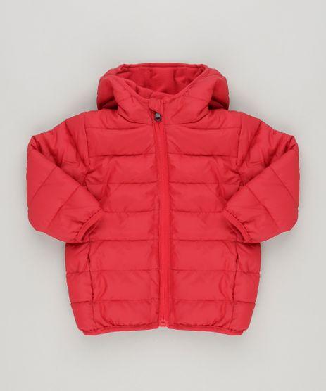 Jaqueta-Infantil-Puffer-com-Capuz-e-Forro-em-Fleece-Vermelha-8845831-Vermelho_1