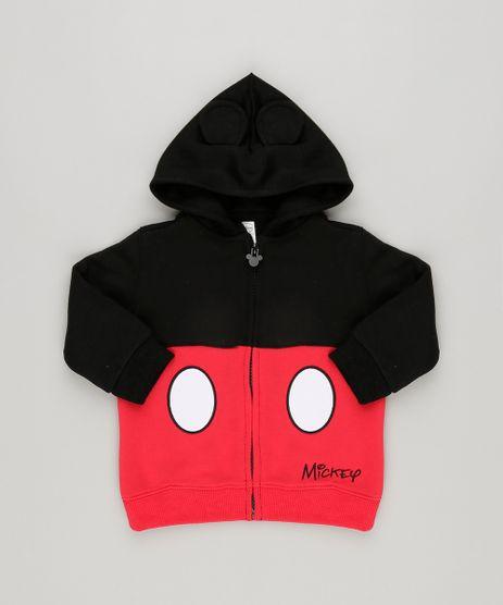 Blusao-Infantil-Mickey-Mouse-Capuz-com-Orelhas-em-Moletom-Preto-8448616-Preto_1