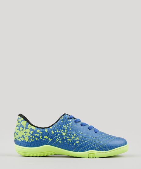 Chuteira-Infantil-Molekinho-Futsal-Estampada-Azul-9131079-Azul_1