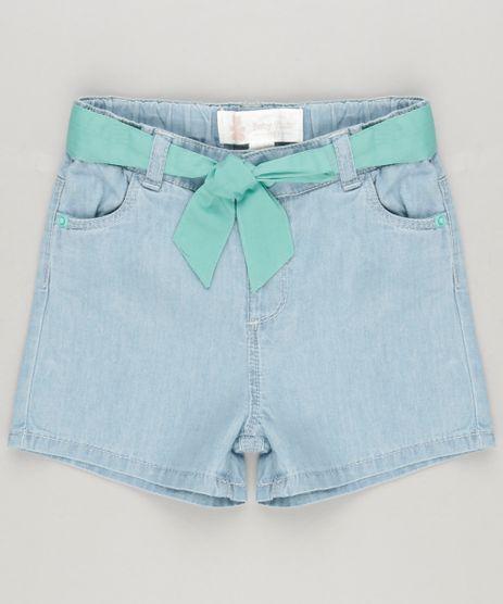 Short-Jeans-Infantil-com-Faixa-e-Bolsos-em-Algodao---Sustentavel-Azul-Claro-8859368-Azul_Claro_1