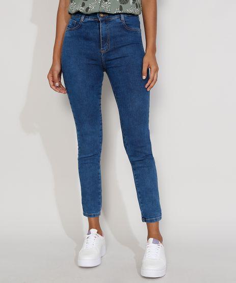 Calca-Jeans-Feminina-Cintura-Alta-Sawary-Cigarrete-Azul-Medio-9984362-Azul_Medio_1