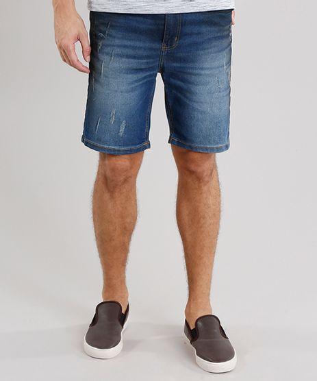 Bermuda-Jeans-Masculina-Skinny-com-Bolsos-Azul-Escuro-8766701-Azul_Escuro_1