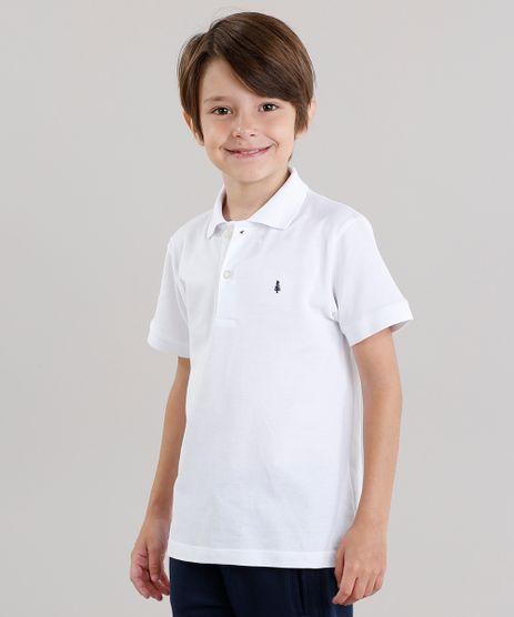 Polo-Infantil-em-Piquet-Basica-Manga-Curta-com-Botoes-Branca-8435761-Branco_1