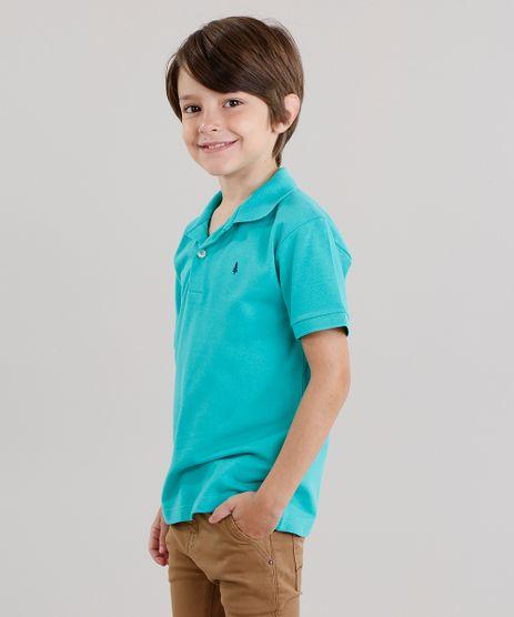 Polo-Infantil-em-Piquet-Basica-Manga-Curta-com-Botoes-Verde-Agua-8435761-Verde_Agua_1