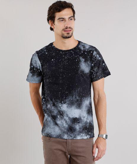 Camiseta-Masculina-Slim-Fit-Estampada-Galaxia-Manga-Curta-Gola-Careca-Preta-9115992-Preto_1