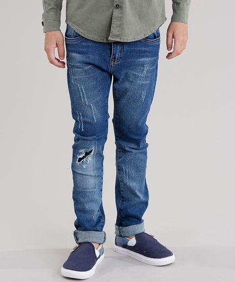 Calca-Jeans-Infantil-Skinny-Destroyed-Azul-Escuro-9046937-Azul_Escuro_1