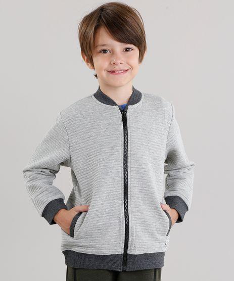 Jaqueta-Infantil-Bomber-em-Moletom-com-Bolsos-Cinza-Mescla-8852279-Cinza_Mescla_1