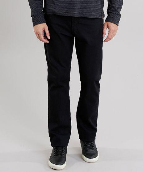 Calca-Jeans-Masculina-Reta-com-Bolsos-Preta-8359539-Preto_1