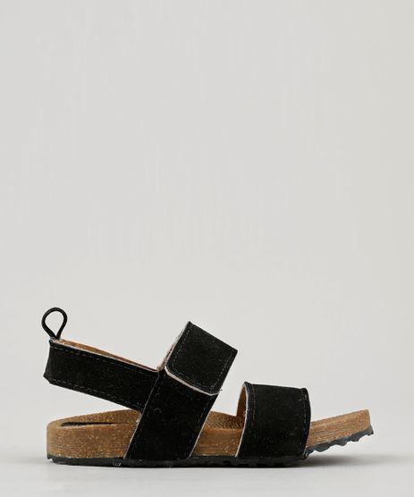 Sandalia-Papete-Infantil-em-Suede-com-Velcro-Preta-9142685-Preto_1
