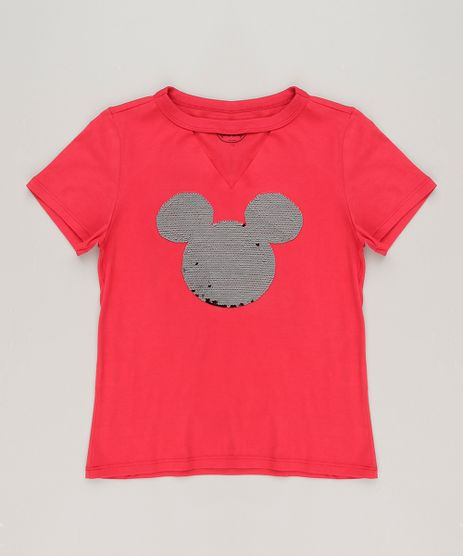 Blusa-Infantil-Choker-Mickey-com-Paetes-Dupla-Face-Manga-Curta-em-Algodao---Sustentavel-Vermelha-9132425-Vermelho_1