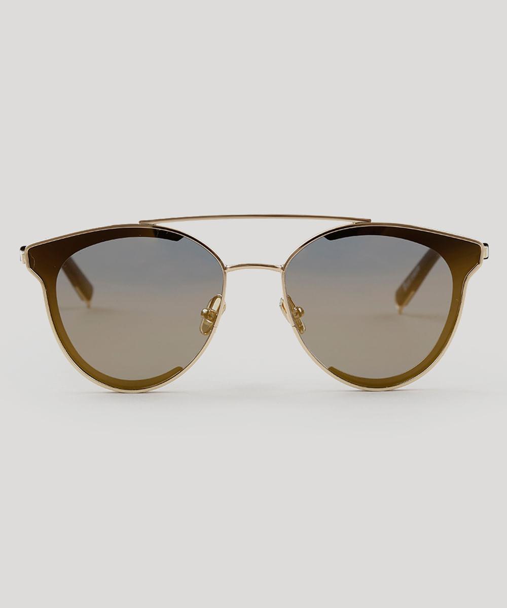 ... Oculos-de-Sol-Redondo-Feminino-Oneself-Dourado-9189366- 1aa21ccb5f