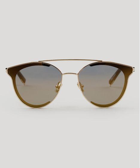 5a86ff380b678 Oculos-de-Sol-Redondo-Feminino-Oneself-Dourado-9189366- ...