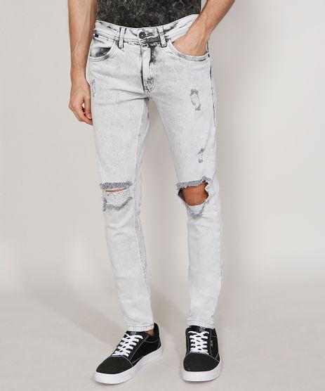 Calca-Jeans-Masculina-Skinny-Destroyed-Marmorizada-Cinza-Claro-9981194-Cinza_Claro_1