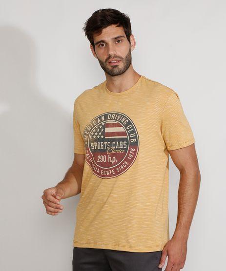 Camiseta-Masculina-Manga-Curta-Gola-Careca--Sports-Cars-Classics--Mostarda-9981739-Mostarda_1