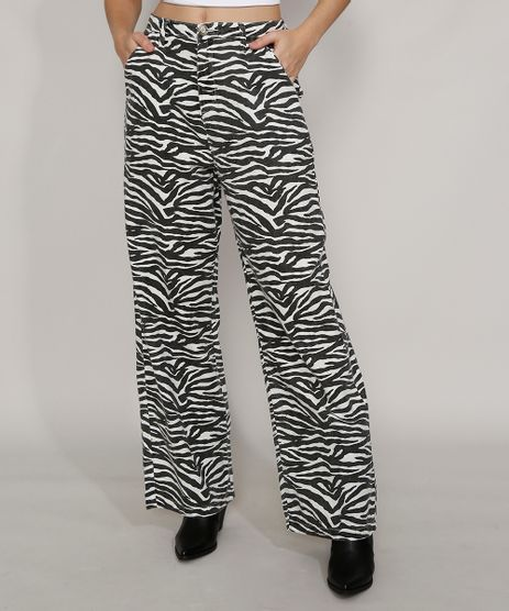 Calca-de-Sarja-Feminina-Mindset-Reta-Wide-Cintura-Alta-Alfaiatada-Estampada-Animal-Print-Zebra-Branca-9987217-Branco_1