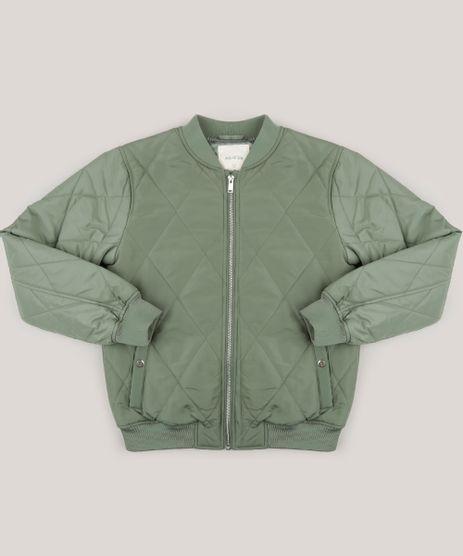 Jaqueta-Infantil-Bomber-com-Costura-Matelasse-Manga-Longa-Verde-8456865-Verde_1