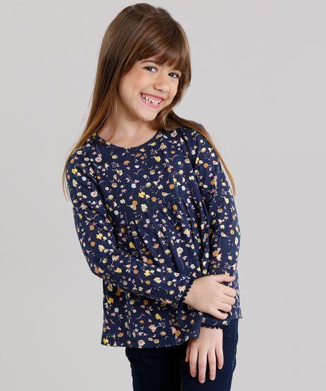 Blusa-Infantil-Estampa-Floral-Manga-Longa-Decote-Redondo-Azul-Marinho-9140684-Azul_Marinho_1