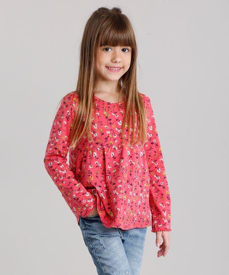 Blusa-Infantil-Estampa-Floral-Manga-Longa-Decote-Redondo-Coral-9140684-Coral_1