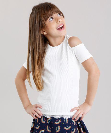 Blusa-Infantil-Open-Shoulder-Canelada-com-Renda-na-Barra-Manga-Curta-Decote-Redondo-Off-White-9132412-Off_White_1