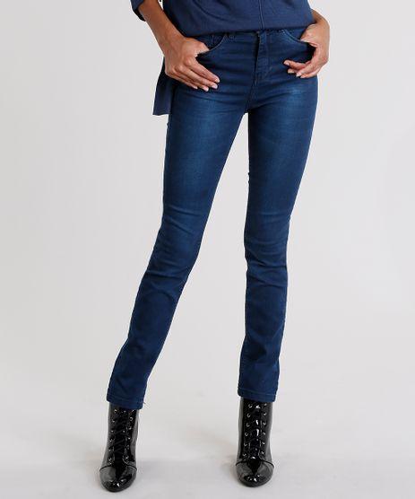Calca-Jeans-Feminina-Super-Skinny-Cintura-Alta-com-Cinto-Trancado-Azul-Escuro-9165282-Azul_Escuro_1