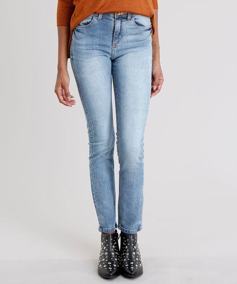 Calca-Jeans-Feminina-Skinny-Cintura-Alta-com-Cinto-Fino-Azul-Claro-9010642-Azul_Claro_1