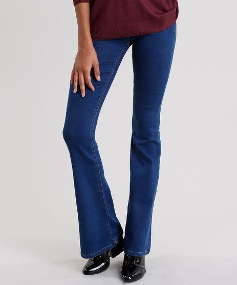 Calca-Jeans-Feminina-Flare-Cintura-Alta-Azul-Escuro-9165281-Azul_Escuro_1