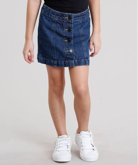 Saia-Jeans-Infantil-Evase-com-Botoes-Curta-Azul-Escuro-9158387-Azul_Escuro_1