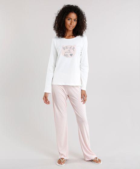 Pijama-Feminino--Bear-With-Me--com-Manga-Longa-Off-White-9123183-Off_White_1